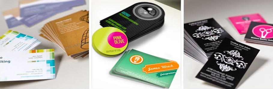 Full color business cards at AvisBag.com
