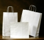 Kraft Shoppers 10x5x10.5 White with handles #16 bags custom printable